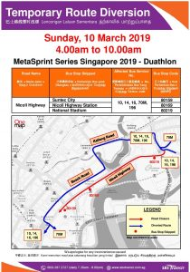SBS Transit Poster for MetaSprint Series Singapore 2019 - Duathlon