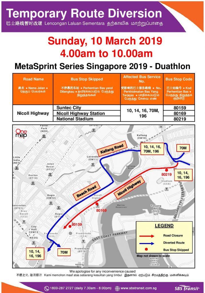 SBS Transit Poster for MetaSprint Series Singapore 2019 - Duathlon