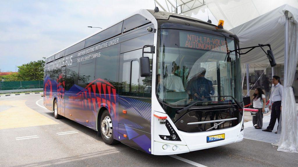 NTU-LTA-Volvo Autonomous Bus - Offside (Photo: ABB)