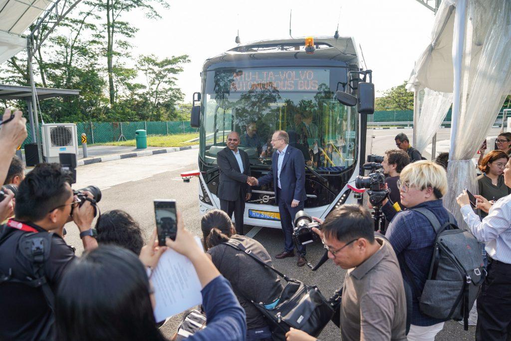 NTU-LTA-Volvo Autonomous Bus - Launch Ceremony (Photo: Volvo Buses)