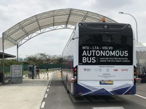 NTU-LTA-Volvo Autonomous Bus - Rear (Photo: ABB)