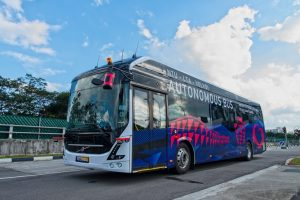 NTU-Volvo autonomous electric bus (Photo: NTU)