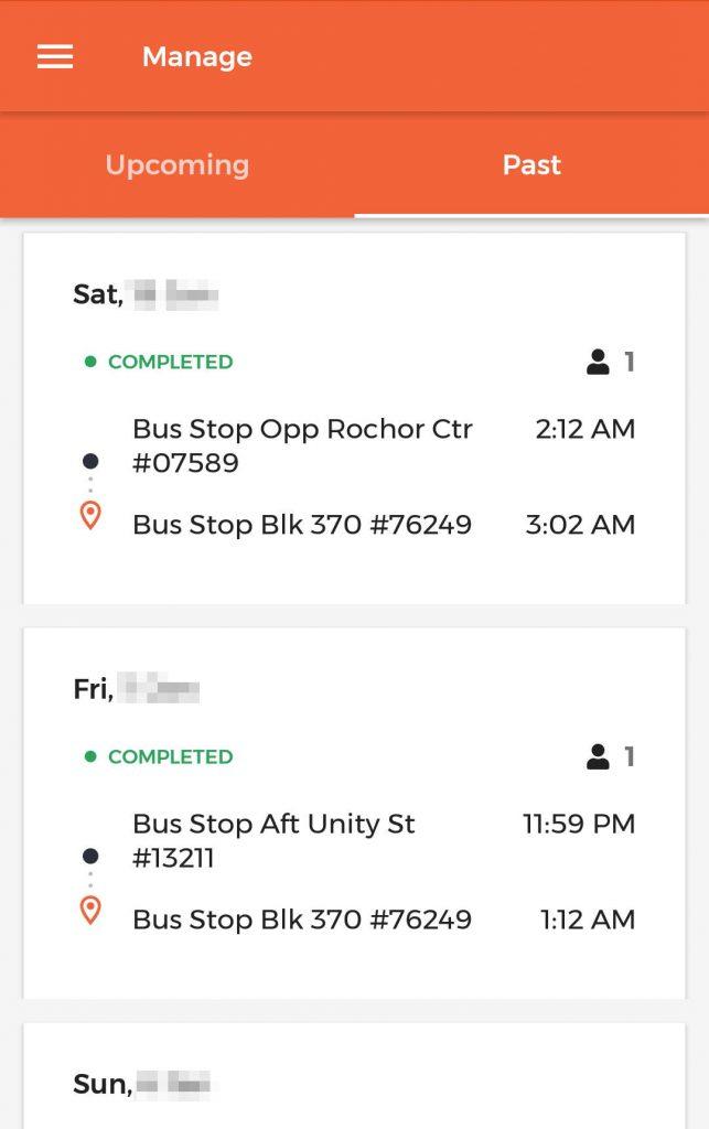 ODPB NB - BusNow App - Ride history
