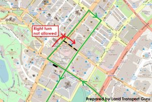 ODPB NB - BusNow App Routing - False Right Turn Instruction from Victoria Street to Bras Basah Road (No Right Turn)