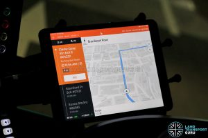 Tablet with BusNow Driver Application (Night Bus) - Navigation