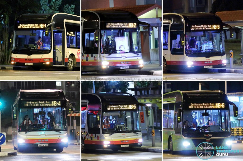 On Demand Public Bus (Night Bus) Collage