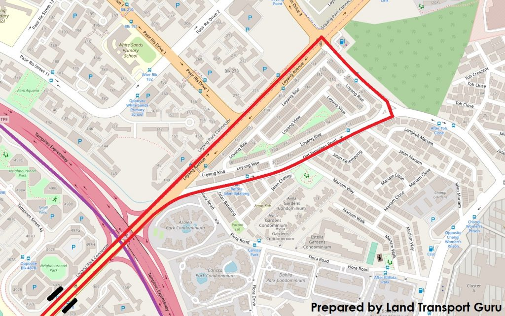 ODPB NB - BusNow App Routing - Exiting & Re-entering Tampines Geofence