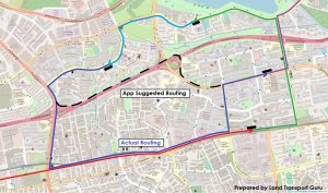 ODPB NB - BusNow App Routing - App Planned Expressway Routing (Bus Captains instructed not to enter Expressway)