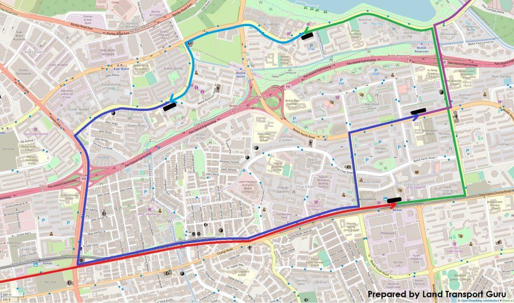 ODPB NB - BusNow App Long Routing around Bedok / Kaki Bukit Area