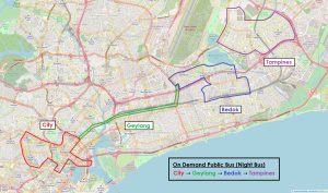 On-Demand Public Bus (Night Bus): Trial area
