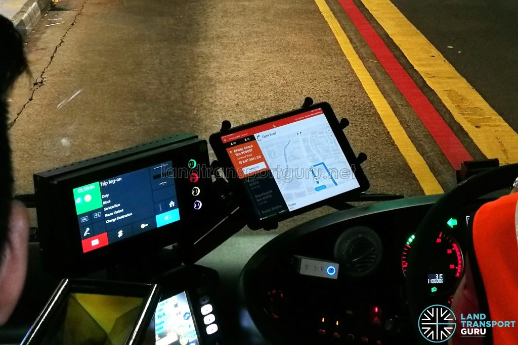 BusNow App Driver Interface - Missed Waypoint