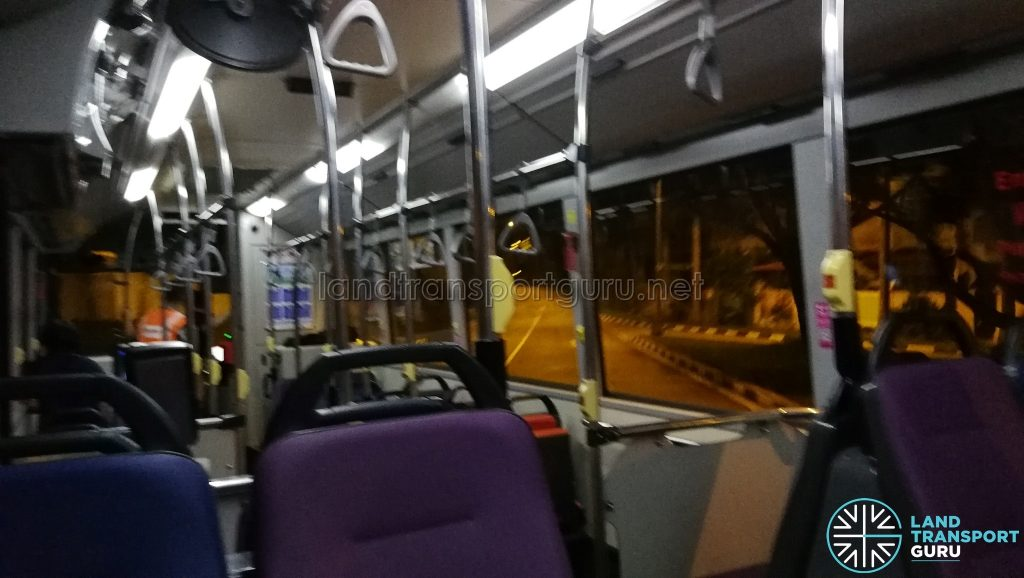 ODPB NB - Bus travelling down Old Tampines Road