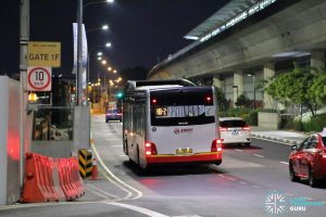 On-Demand Night Bus passing by Tanah Merah
