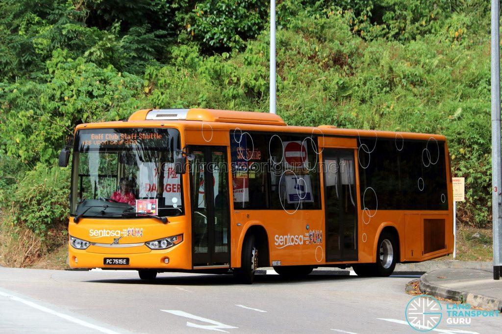 Sentosa Golf Club Staff Shuttle - Sentosa Development Corporation Volvo B8RLE (PC7515E)