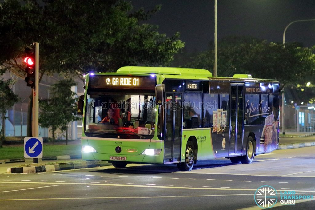 GA Ride 01 - Go-Ahead Singapore Mercedes-Benz Citaro (SBS6543L)