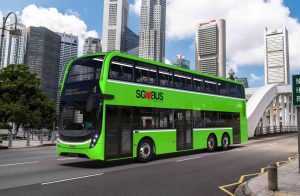 Artist's Impression for ADL 3-Door Double Decker Bus (Photo: LTA)