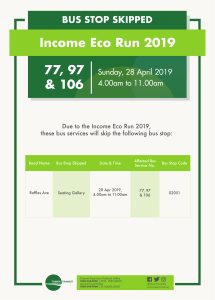 Tower Transit Bus Stop Skipped Poster for Income Eco Run 2019 (Withdrawn)