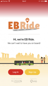 Go-Ahead Singapore EB Ride Application - Start (App Store Screenshot)