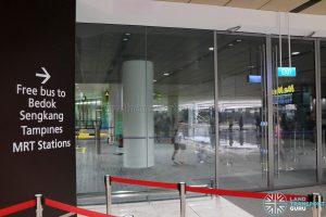 JEWEL Preview - Free One-Way Shuttle Bus to Bedok / Sengkang / Tampines MRT Stations at Terminal 1 Coach Bay