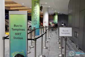JEWEL Changi Airport - Free Shuttle Bus to Tampines MRT Station