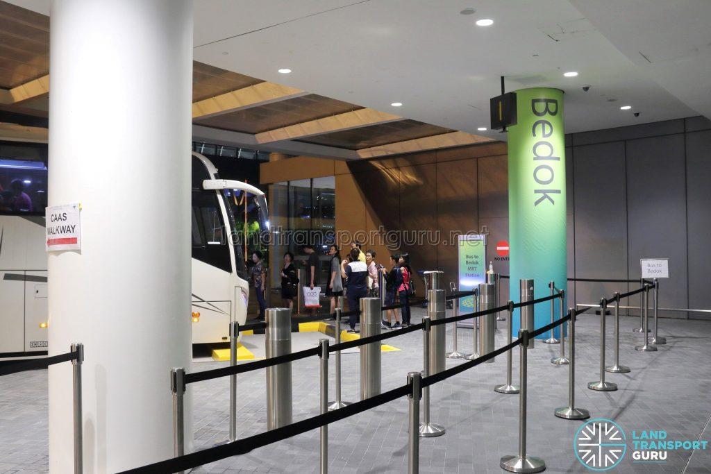 JEWEL Changi Airport - Free Shuttle Bus to Bedok MRT Station