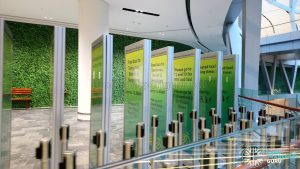 Free Shuttle Bus Signs for JEWEL Changi Airport