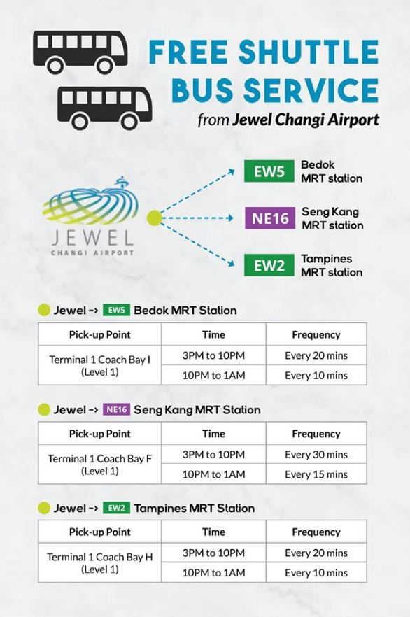 Jewel Changi Airport Free Outbound Shuttle Service (Photo: Changi Airport)