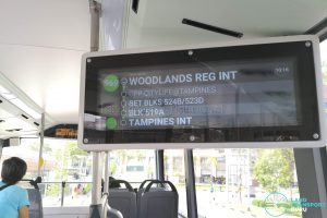 Interior PIDS (Upper Deck) - Bus 969