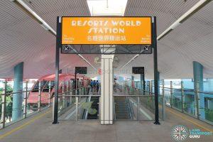 Resorts World Station - Platform level