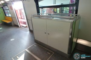 Sentosa Express Monorail - Interior with Signalling Equipment Cabinet