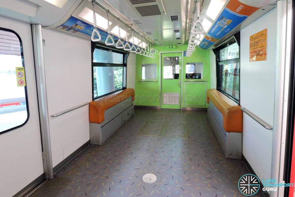 Sentosa Express Monorail - Interior with Folded Up Seats