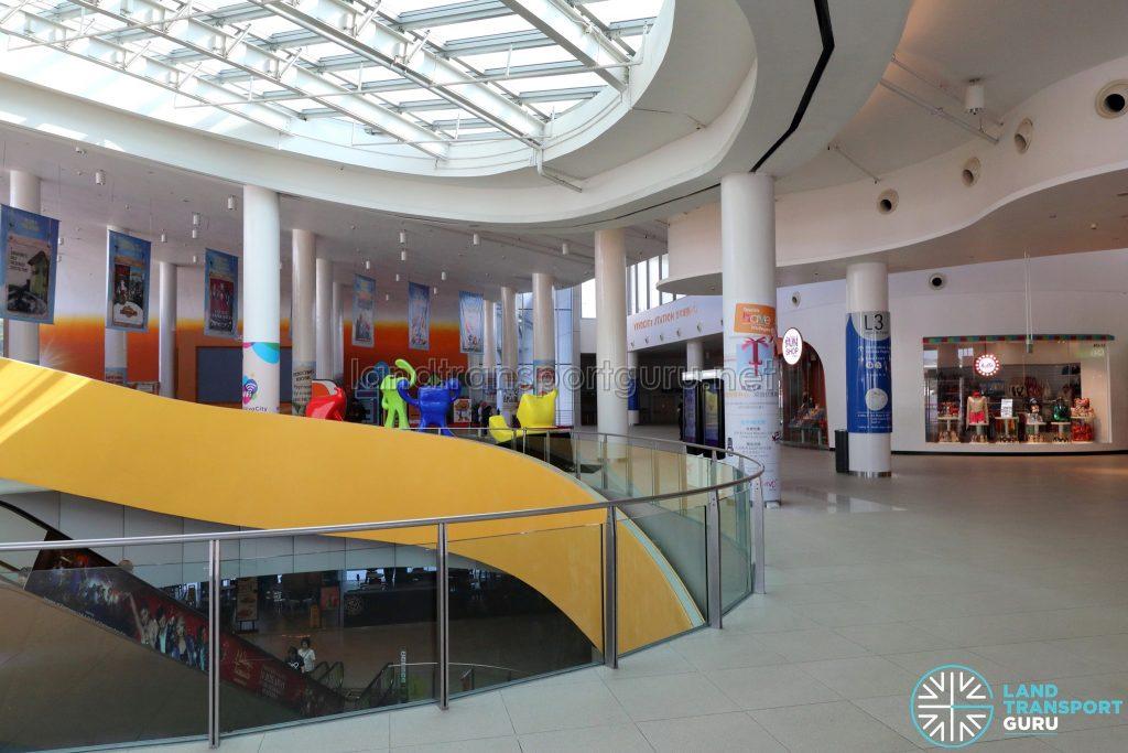 VivoCity Station - Escalators and Atrium to VivoCity Mall