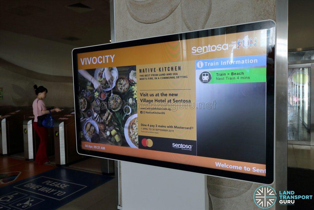 VivoCity Station - Information screen