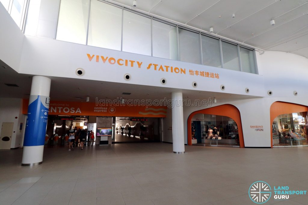 VivoCity Station - Entrance to Platforms