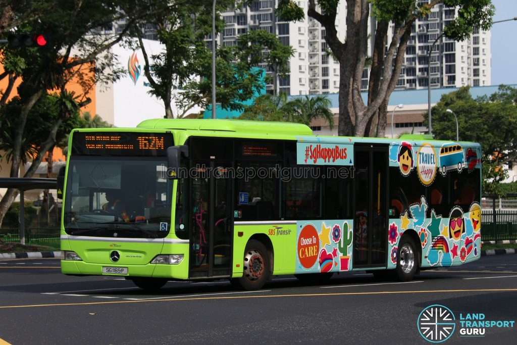 SG Happy Bus - Bus 162M SBS Transit Mercedes-Benz Citaro (SG1165P)