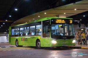 Bus 34: Go-Ahead MAN Lion's City A22 (SG1849A)