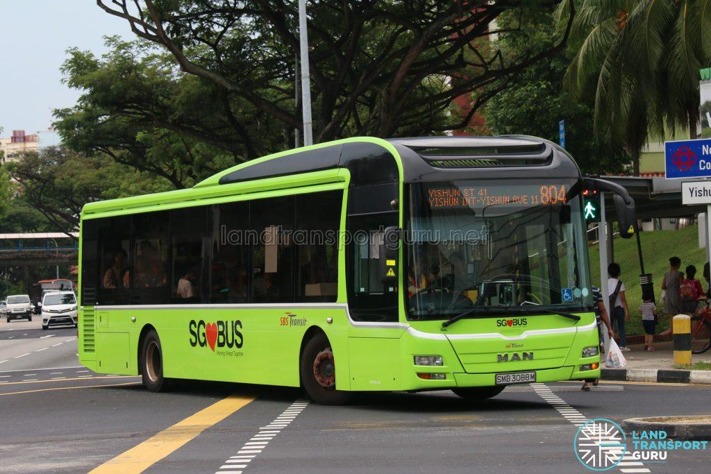 Bus 804 - SBS Transit MAN A22 (SMB3088M)