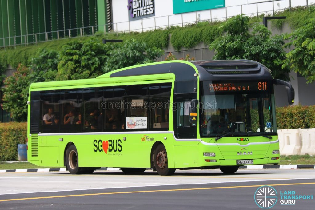 Bus 811 - SBS Transit MAN A22 (SMB3096P)