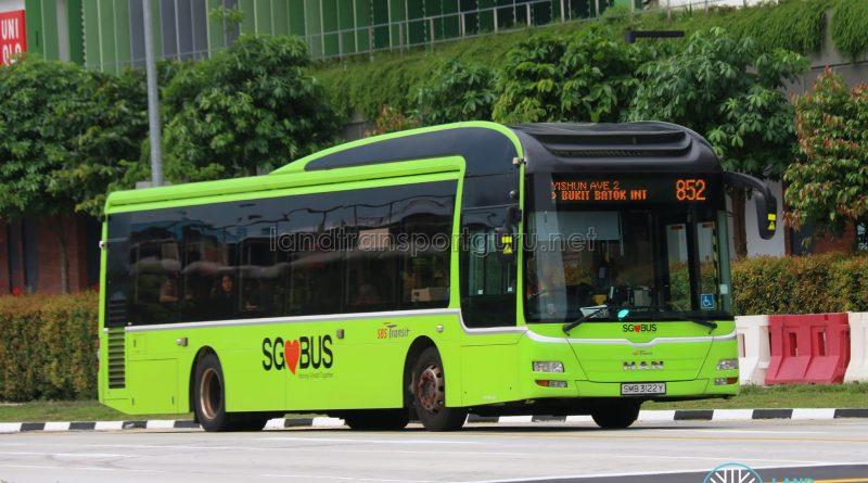 Bus 852 - SBS Transit MAN A22 (SMB3122Y)
