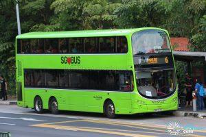 Bus 6: Go-Ahead Volvo B9TL (SBS3443L)