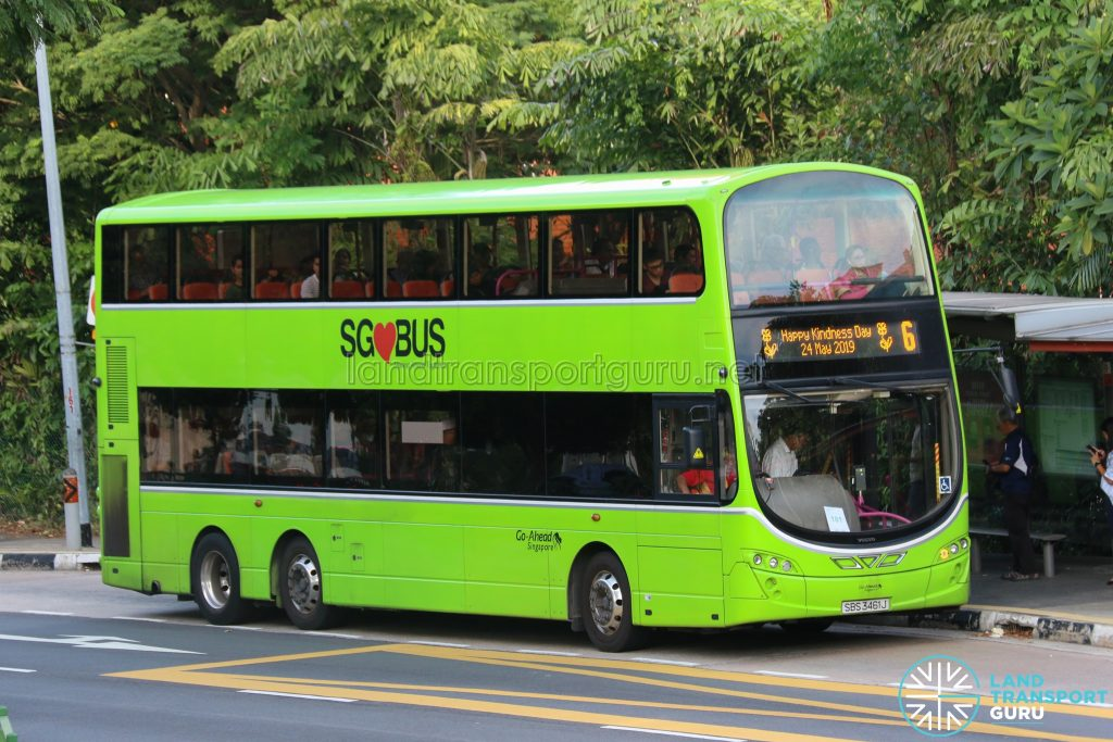 Kindness Day SG - Bus 6 Go-Ahead Volvo B9TL (SBS3461J)