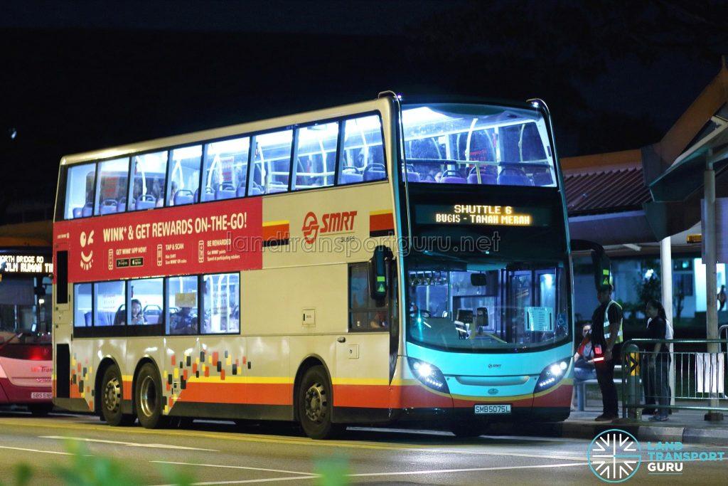 Shuttle 6 - SMRT Buses Alexander Dennis Enviro500 (SMB5075L)