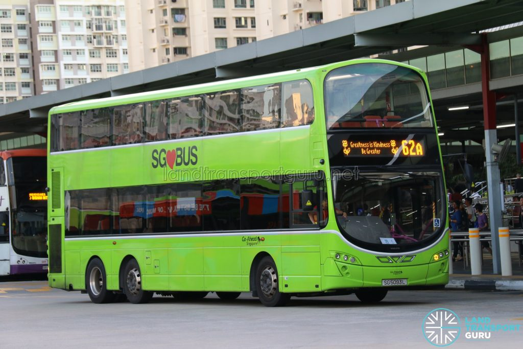 Kindness Day SG - Bus 62A Go-Ahead Volvo B9TL Wright (SG5093L)