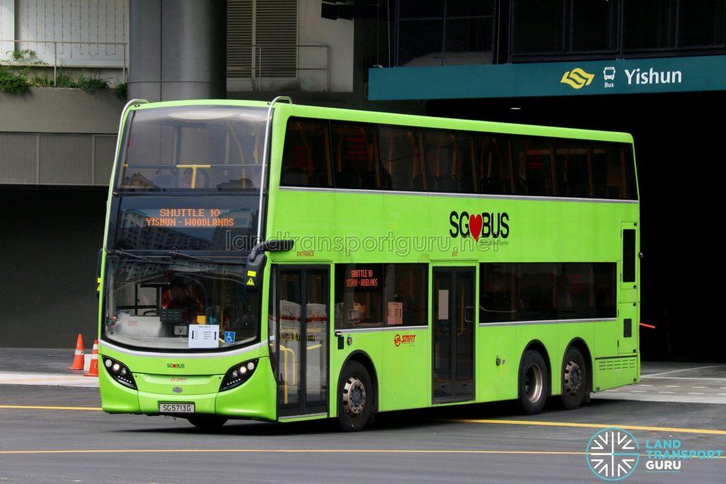 Shuttle 10 - SMRT Buses ADL Enviro500 (SG5713G)