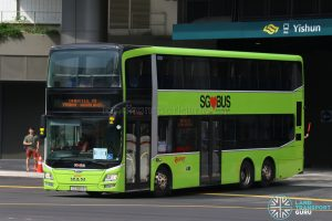 Shuttle 10 - SMRT Buses MAN Lion's City DD A95 (SG5851R)