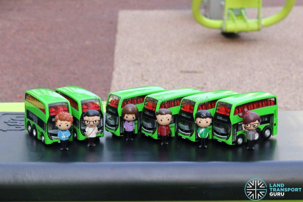 EAP ADL Enviro500 3-Door Concept bus models with Figurines
