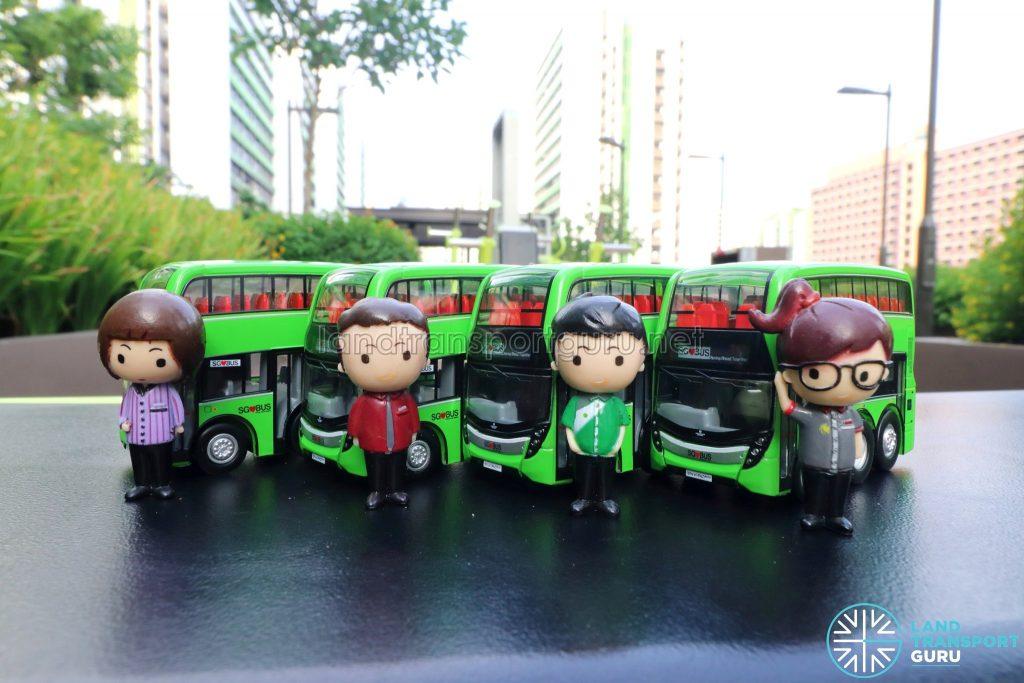 EAP ADL Enviro500 3-Door Concept bus models with Public Transport Operator Figurines
