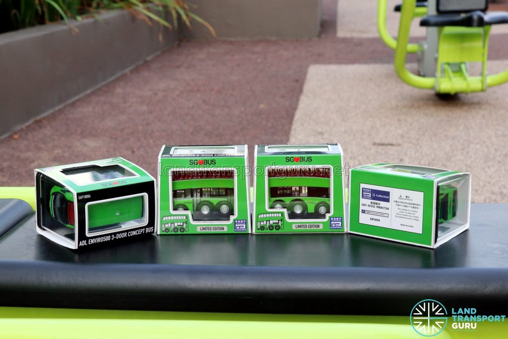 EAP ADL Enviro500 3-Door Concept bus models in original packaging