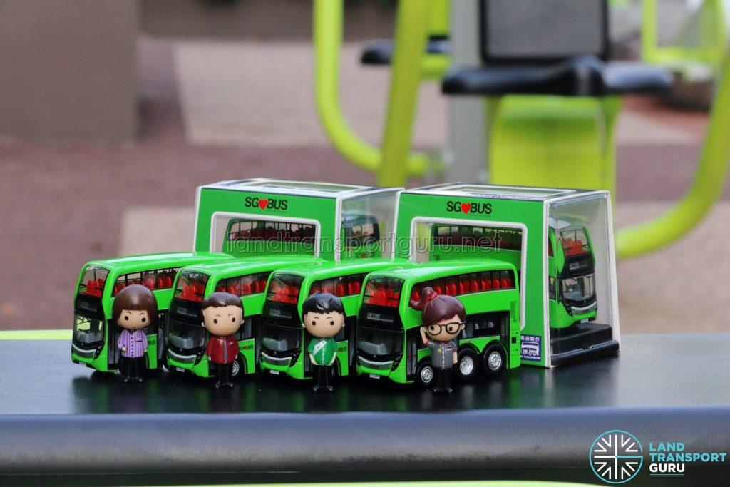 EAP ADL Enviro500 3-Door Concept bus models with Figurines and Original Casing
