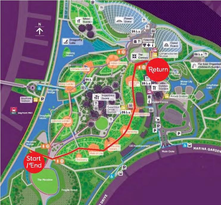 Auto Rider (EasyMile EZ10) trial route in December 2015
